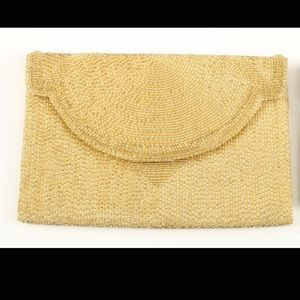Gucci Gold Beaded Clutch